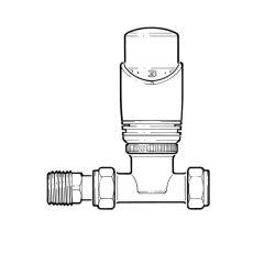 Drayton TRV4 Classic, Straight TRV - 15mm