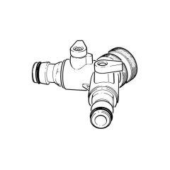 "Dual Garden Hose Tap Connector - 3/4"" Brass"
