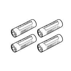 Duracell Plus AA Alkaline Batteries - Pack of 4