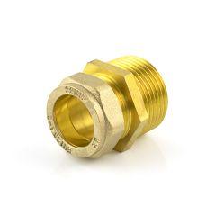 """DZR Compression Straight Adaptor 22mm x 3/4"""" BSP TM"""