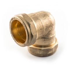Elbow UK Compression - 22mm Brass