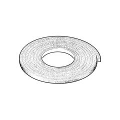 Extra Thick Foam Strip Draught Seal - White