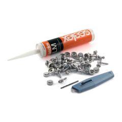 Fixing kit - 30 fasteners & caps - 300 ml sealant