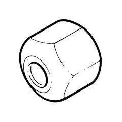 "Flare Nut, short, 1/4"" tube"