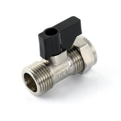 "Flat Faced Straight Lever Op. Isolation Valve 15mm x 1/2"" BSP PM"
