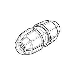 FloPlast Below Ground Coupler - 50mm MDPE