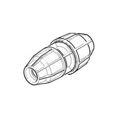 FloPlast Below Ground Reducing Coupler 50 x 32mm MDPE