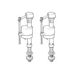 Fluidmaster 400UKTWIN073 Bottom Entry Fill Valves
