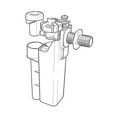 "Fluidmaster AIRGAP Delayed Action, Side Entry Float Valve, 1/2"" Plastic Inlet"