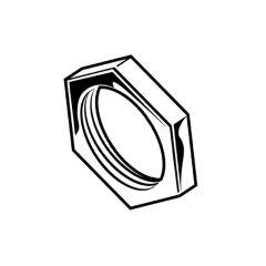 Electrical Conduit Galvanised Steel Locknut - 20mm