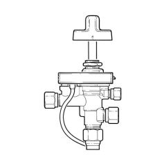 Gas Control Valve Tap with Flame Supervision & Piezo