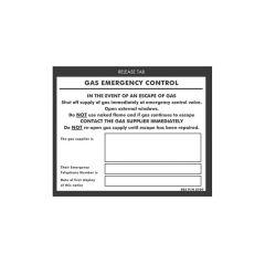 Gas Emergency Control Sticker