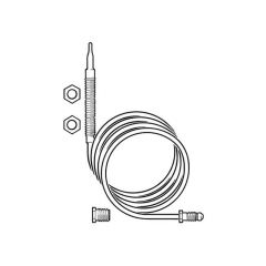 Gas Fire Thermocouple - 900mm Nickel Plated