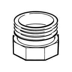 """Gas Meter Adaptor - 1.1/2"""" BS 746 F x 2"""" BS 746 M"""