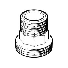 """Gas Meter Adaptor - 1.1/4"""" BSP TM x 1.1/4"""" BS 746 M"""