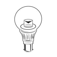 LED Globe Bulb - 5W BC Clear, 400 lm