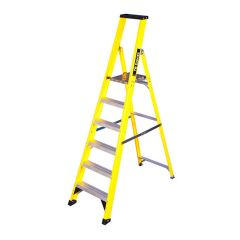GRP Platform Step Ladder - 6 Treads