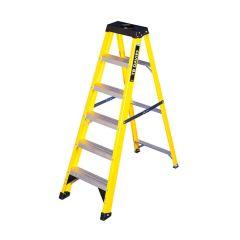 GRP Swingback Step Ladder - 6 Treads