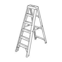 GRP Swingback Step Ladder - 8 Treads
