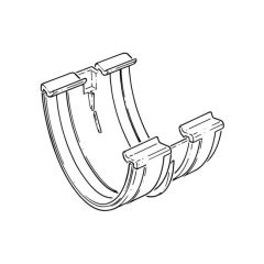 Gutter Union - Rounded High Capacity - White