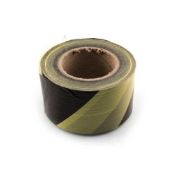 Hazard Barrier Tape - 70mm x 500m Black/Yellow