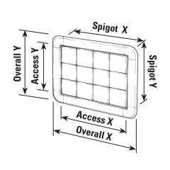 Hidden Access Panel - 256 x 357 (overall Size)