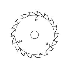 Hitachi Circular Saw Blade - Fine Cut - 30 mm dia. Bore