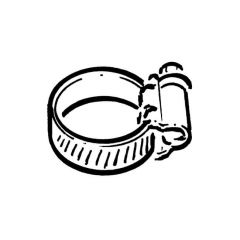 Stainless Steel Hose Clip - 16 to 27mm