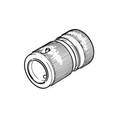 "1/2"" Brass Hose Connector with Auto-Stop"