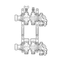 Inta Underfloor Heating Polymer Manifold - 2 Ports