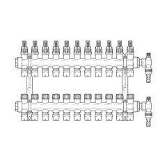 Inta Underfloor Heating Polymer Manifold Push-Fit -11 Ports
