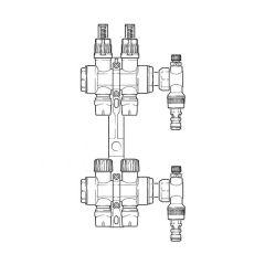 Inta Underfloor Heating Polymer Manifold Push-Fit - 2 Ports