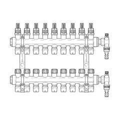 Inta Underfloor Heating Polymer Manifold Push-Fit - 9 Ports