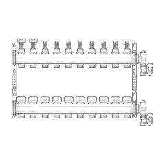 Inta Underfloor Heating S/S Manifold - 10 Ports