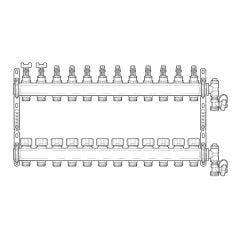 Inta Underfloor Heating S/S Manifold - 12 Ports