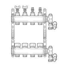 Inta Underfloor Heating S/S Manifold - 4 Ports
