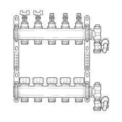 Inta Underfloor Heating S/S Manifold - 5 Ports