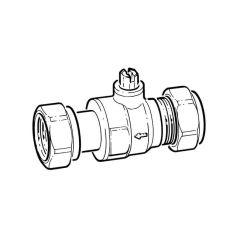 "Inta Wondervalve Lite - 15mm Comp. 1/2"" Union, 8 l/m"