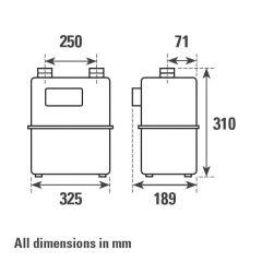 ITRON G10P Diaphragm Gas Meter
