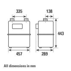 ITRON G25P Diaphragm Gas Meter