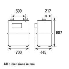 ITRON G65P Diaphragm Gas Meter