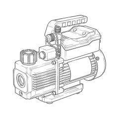 Javac CC-31 A2L Two Stage Vacuum Pump - (1.4 CFM)