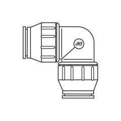 JG Speedfit Equal Elbow - 28mm White