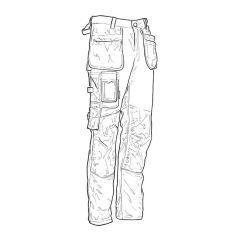 """Jobman Fast Dry Holster Trouser - Leg 34"""", Waist 34"""""""