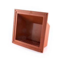 "KVH8 Air Brick Cowl 6"" X 6"" Terracotta"
