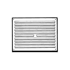 """Door Ventilator KVH16 - 10"""" x 7"""", White"""
