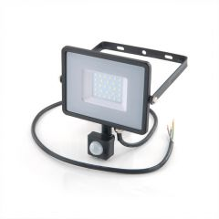 LED Floodlight with PIR - 30W, 2400 lm