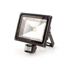 LED Floodlight with PIR - 30W, 2400 lm