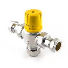 Low Pressure 22 mm - Solar Thermostatic Mixing Valve
