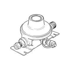 Clesse Caravan Low Pressure Regulator Straight - 1.5 kg/hr
